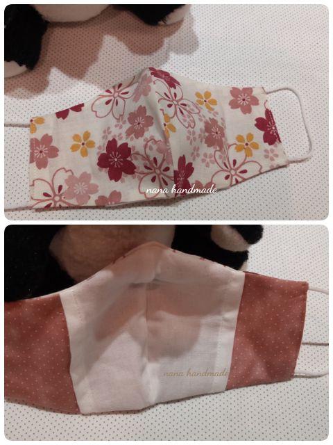 日本濱文樣 立體口罩/日式櫻花/柔軟舒適 可搭醫療口罩配戴