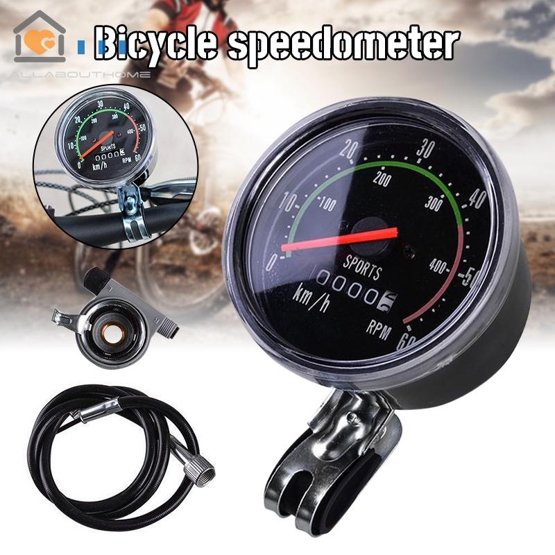Bicycle Bike Speedometer Analog Mechanical Odometer With Har