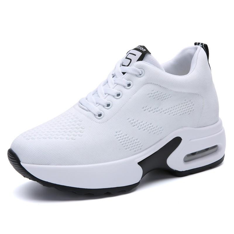 (現貨)新款秋季新款內增高女鞋韓版休閑運動鞋氣墊厚底鞋