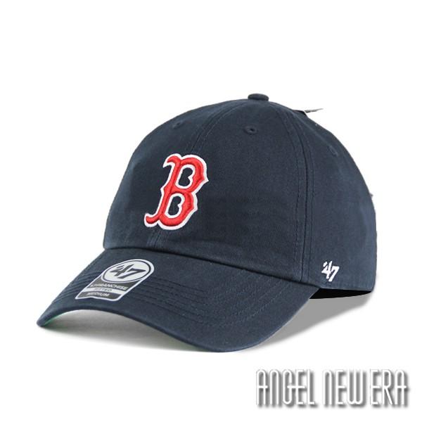 【47 brand】MLB 紅襪 波士頓 紅襪 深藍 B 軟版 老帽 全封 穿搭 ootd【ANGEL NEW ERA】