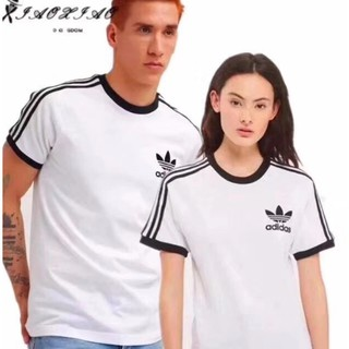 Adidas 愛迪達 阿迪達斯 AZ8128 三葉草 情侶 短袖 黑白,男女同款XS-2XL T恤 印花 純棉 台南市