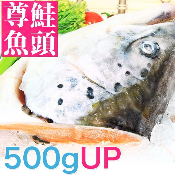 大顆量極少!南海豐【極品挪威尊鮭魚頭】海上先生嚴選下巴肥厚,肉質肥美富膠質(500g~600g)