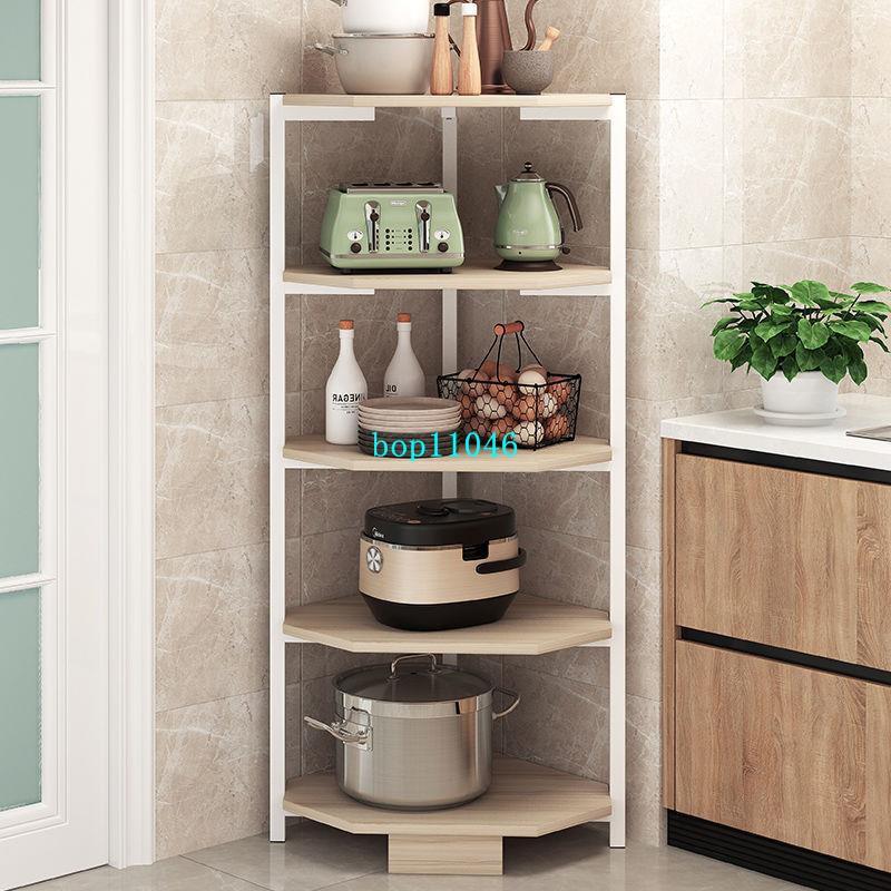 新款【免郵】廚房置物架家用收納神器架子廚房轉角落地鍋架子省空間層架