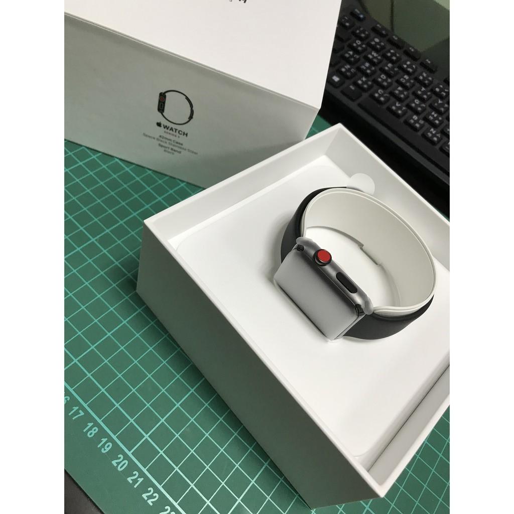 全新Apple Watch Series 3 42MM不鏽鋼黑(GPS + 行動網路) 保固3個月