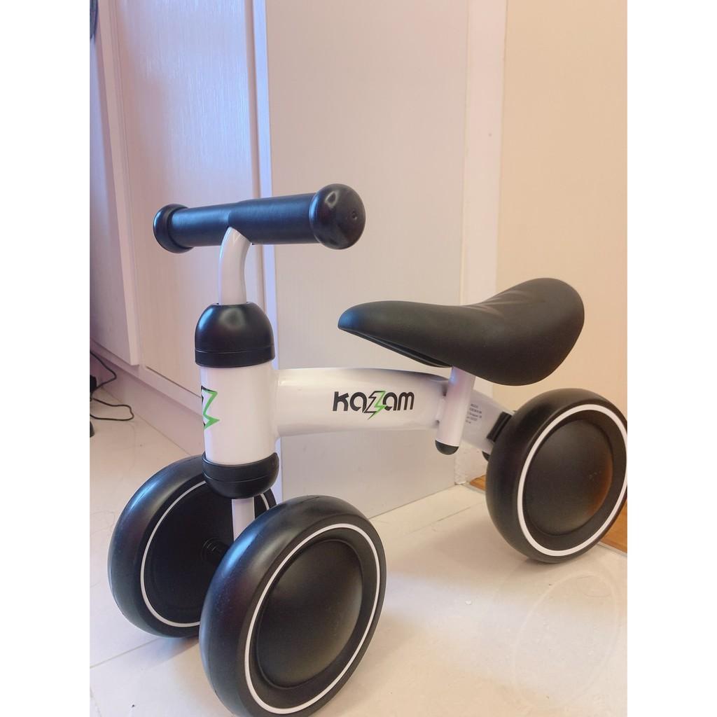 降價~99成新~美國Kazam mini寶寶滑步車 白色黑椅墊