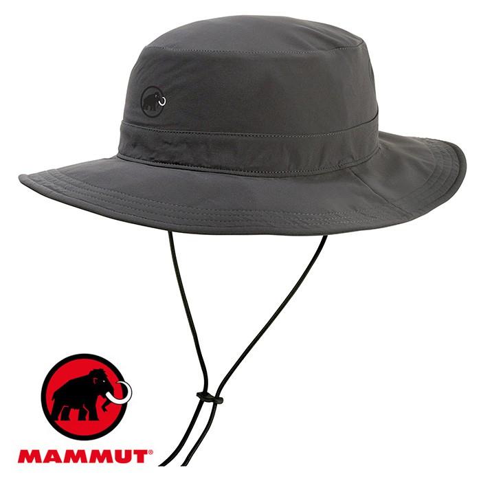 【Mammut 長毛象 瑞士】Runbold 圓盤帽 遮陽帽 幻影黑 (04612-00150)