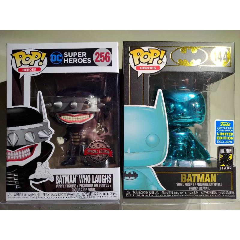 DC 蝙蝠俠 狂笑蝙蝠/SDCC電鍍湖水藍 Batman Funko POP #144、#256