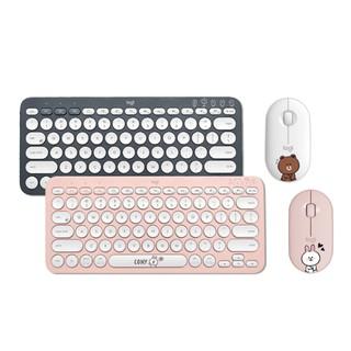 ❤免運❤現貨❤羅技linefriends聯名款k380無線藍牙靜音鼠標鍵盤套裝鍵鼠套裝,情侶款 桃園市