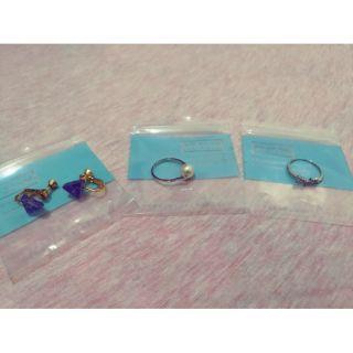 Vacanza accessory 全新 夾式三角幾何耳環 珍珠簡約戒指 紐結水鑽戒指 新北市