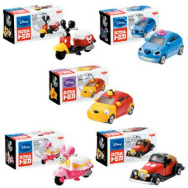TOMICA 絕版 稀有 扭蛋 迪士尼 迷你 小車 米奇 米妮 機車 摩托車 維尼 魔法米奇
