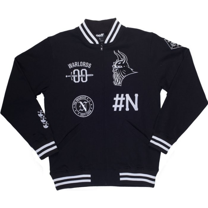 neff Men's Sportster Zip Fleece Jacket 貼布 電繡 棒球外套