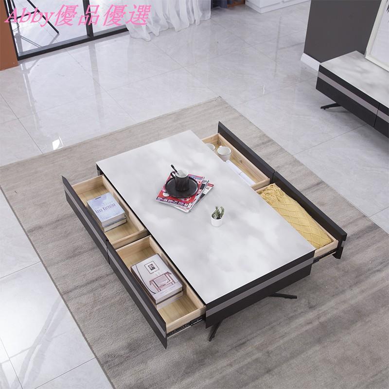 【可貨到付款】意式極簡茶幾電視柜組合輕奢風2020新款現代簡約時尚北歐客廳黑白爆款