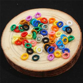 20個 彩色錦綸DIY飾品配件跳環 線圈,用於珠寶製作 手作材料 外徑約6mm 內徑約3mm 粗度1.5mm