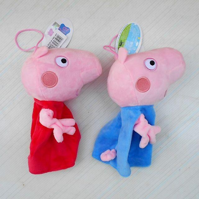 正版佩佩豬手偶  佩佩手偶 喬治豬手偶 喬治手偶 粉紅豬小妹~佩佩豬娃娃 喬治豬娃娃~6吋 佩佩豬 喬治豬~生日情人禮物