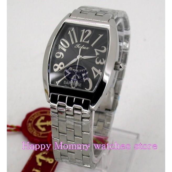 【 幸福媽咪 】TELUX 鐵力士 瑞士ETA機芯,水晶不刮傷鏡面 自動手動上鍊機械錶 SW-9532M