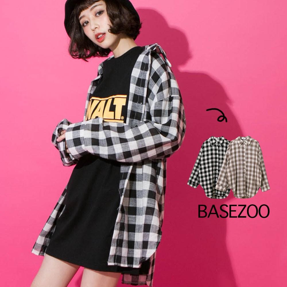 貝思奇-韓妞的方格棉麻襯衫(2色)【S140613】
