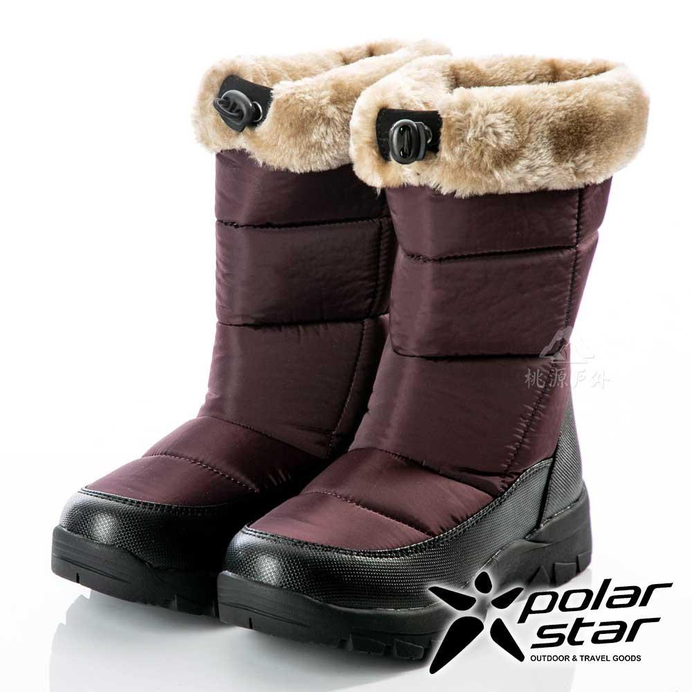 【PolarStar】女保暖雪鞋『棕』P18628 (冰爪 / 內厚鋪毛 /防滑鞋底)