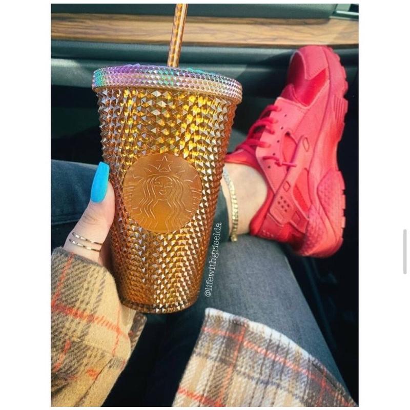 【現貨在台】🇺🇸美國星巴克Starbuck ㊙️50週年✨超限量⚡️金色榴槤隨行杯✨吸管 冷水杯