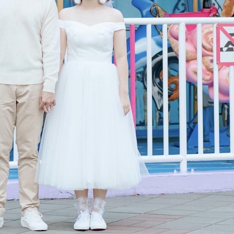 二手 小清新輕婚紗 背後可調節 婚禮/婚紗攝影