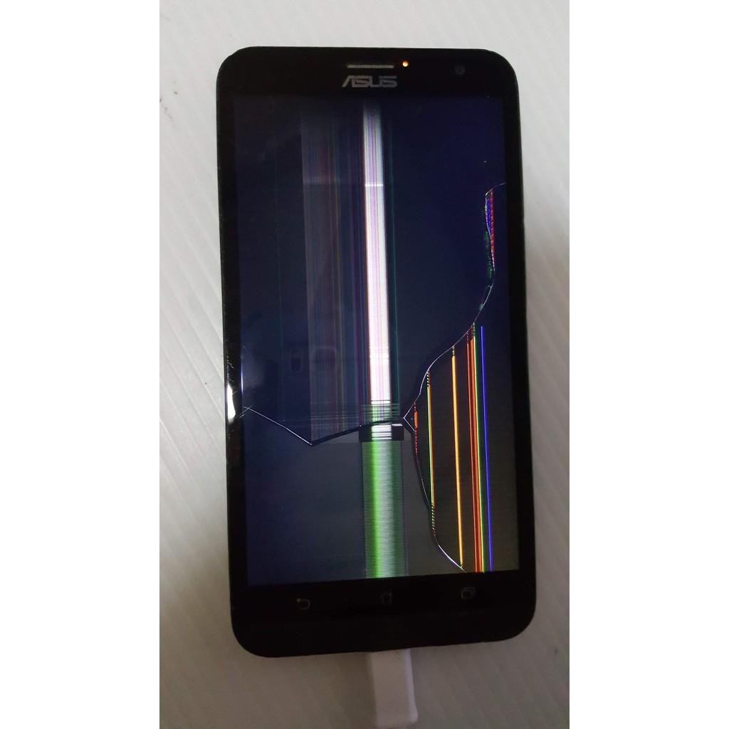 破屏故障零件機 華碩 ASUS ZenFone 2 Laser ZE550KL Z00LD 手機 鏡頭有貼膜 A6
