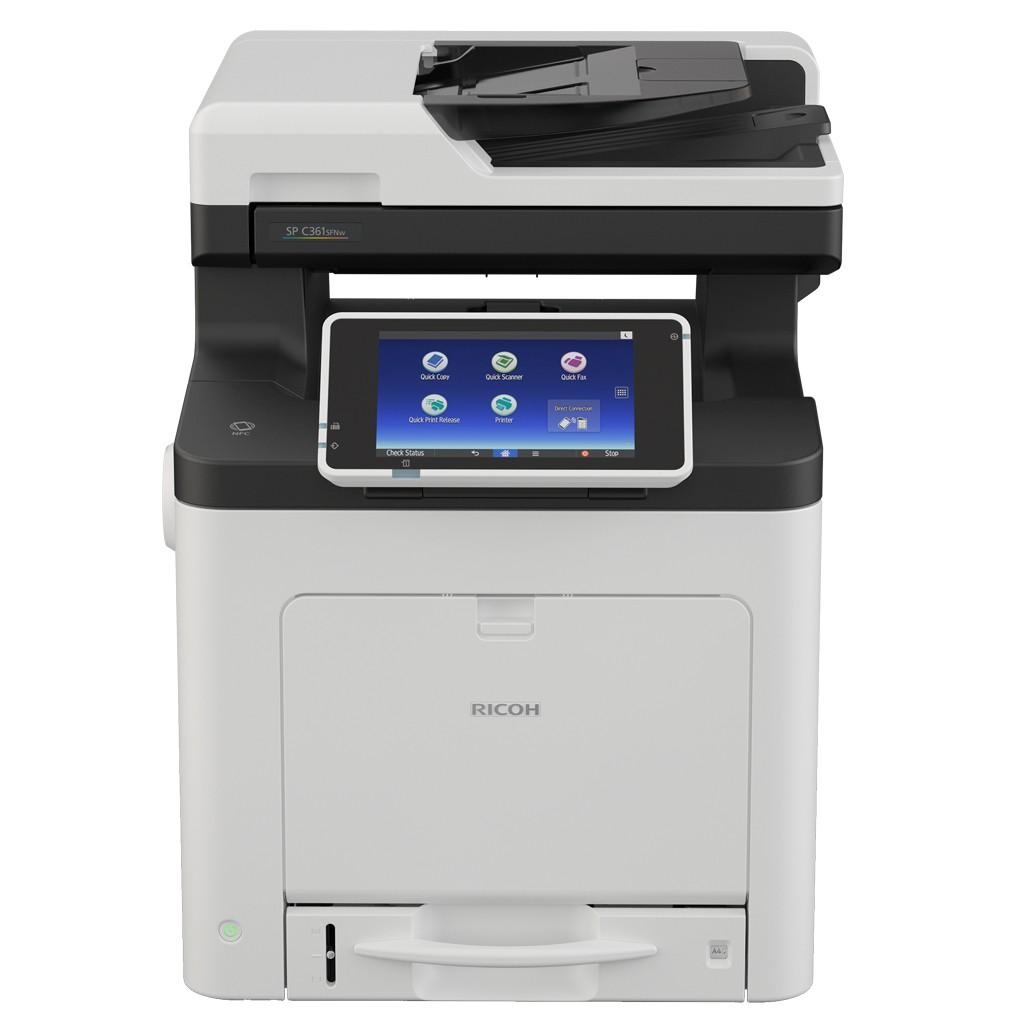 RICOH 理光 SP C360SFNw A4 彩色 雷射 多功能 事務機 列印 影印 掃瞄 傳真 自動 雙面 效能高