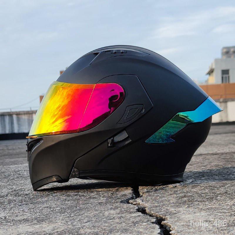 熱賣爆款 Orz頭盔男女電動摩托車揭面盔全盔尾翼半盔安全帽個性冬季機車灰gyh rVZs