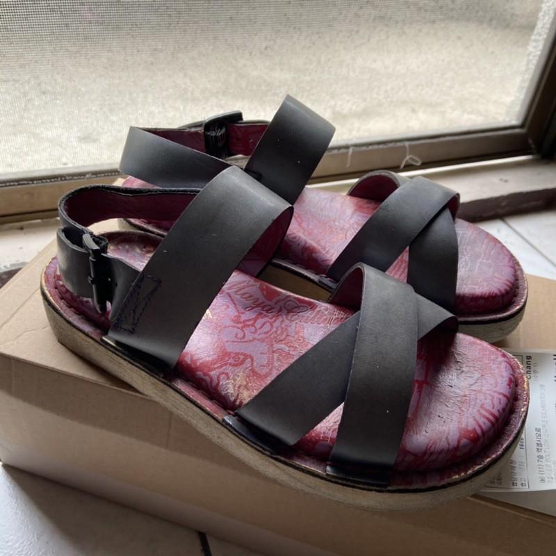 麥坎納 女鞋 涼鞋 拖鞋 全真皮 MACANNA