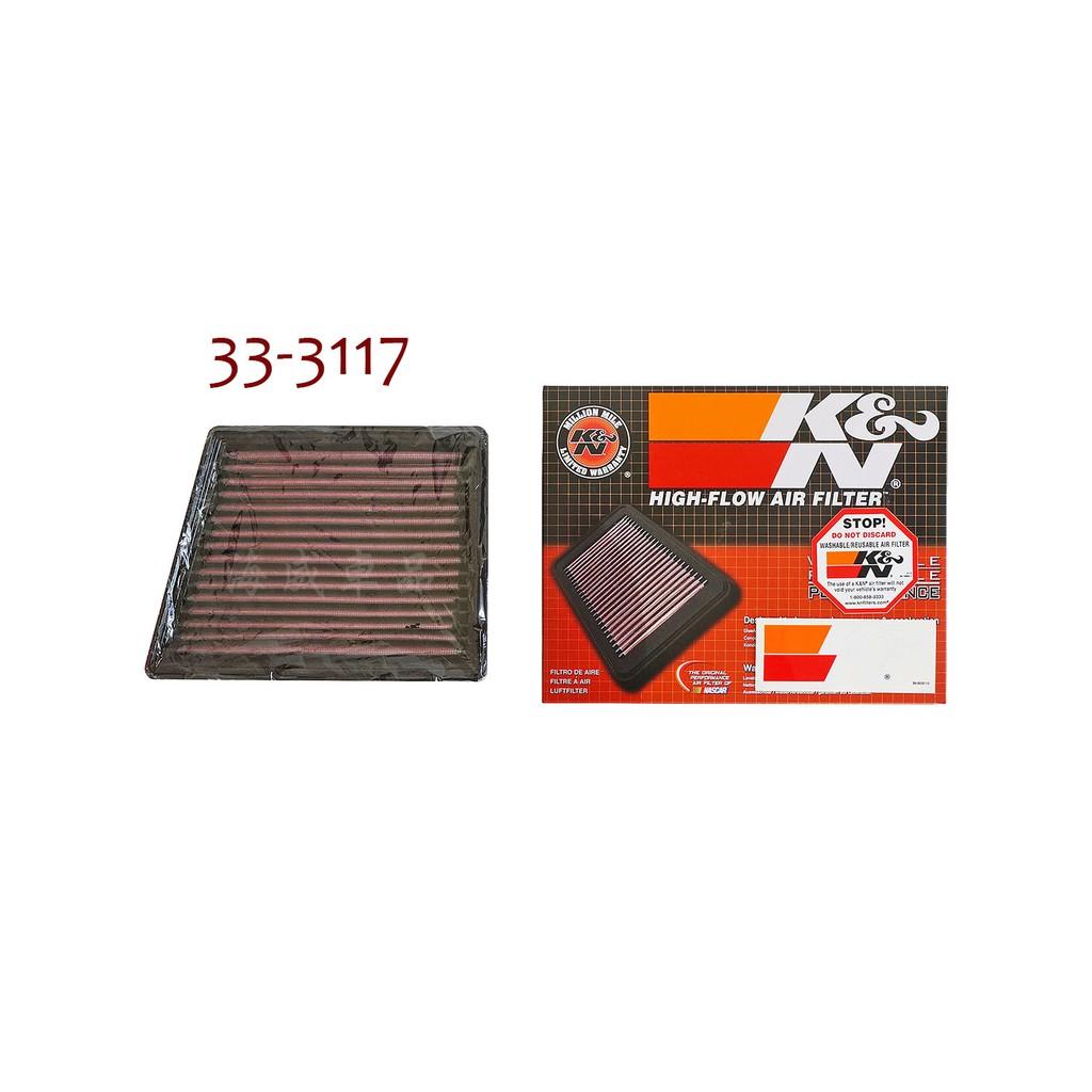 『海威車品』K&N 高流量濾芯 33-3117 New Fiesta EcoSport