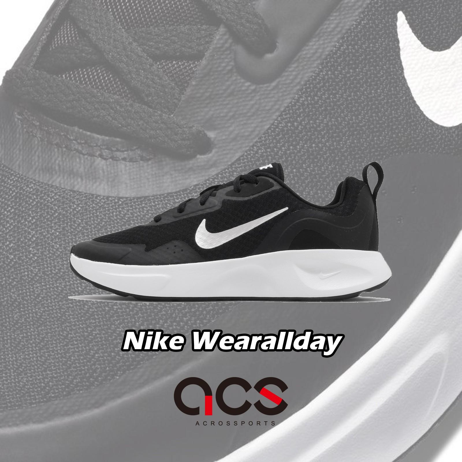 Nike 慢跑鞋 Wmns Wearallday 黑 白 低筒 女鞋 運動鞋 【ACS】 CJ1677-001