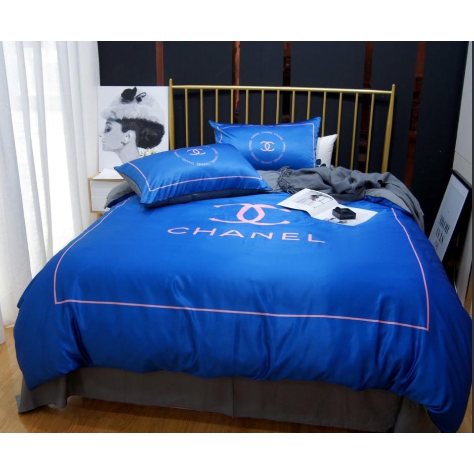 送浴巾爆款歐美雙人床包 大牌 Gucci CHANEL Burberry 凡賽斯 LV 床組床包床套 床單床包被套四件套