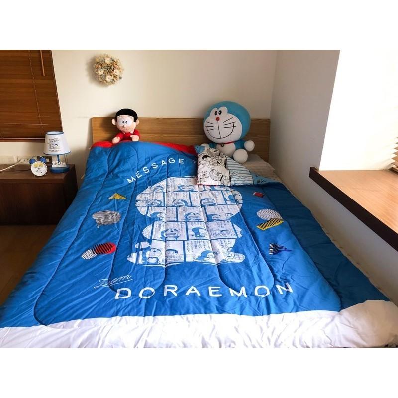 Doraemon哆啦a夢*7-11 單人雙面薄被(藍/黃)
