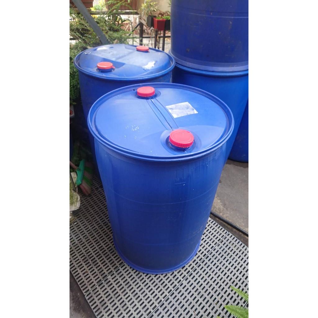 二手化學桶(200L) 藍色 塑膠桶 化學桶 耐酸桶 密封桶 運輸桶 堆肥桶 廚餘桶 儲水桶/運費詢問