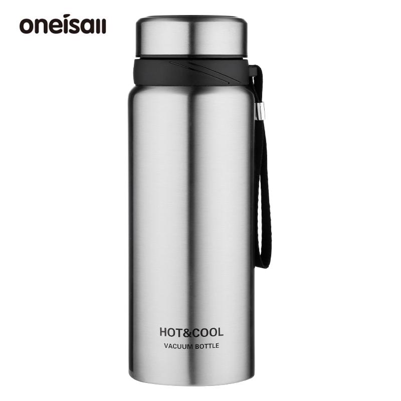 ONEISALL 保溫杯 超大容量 750/1200ml 真空雙層 不鏽鋼 保溫瓶 便攜戶外 咖啡杯 帶茶漏