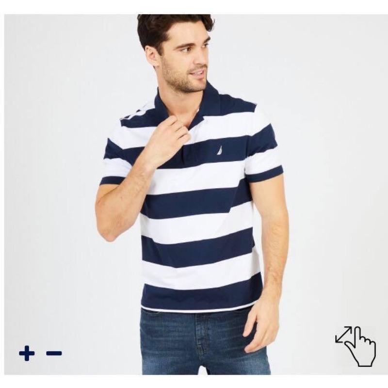 美國Nautica男大人 條紋polo衫