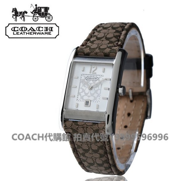 美國代購COACH 14501414【免運】長方形錶盤女錶 手錶14501413 14501415