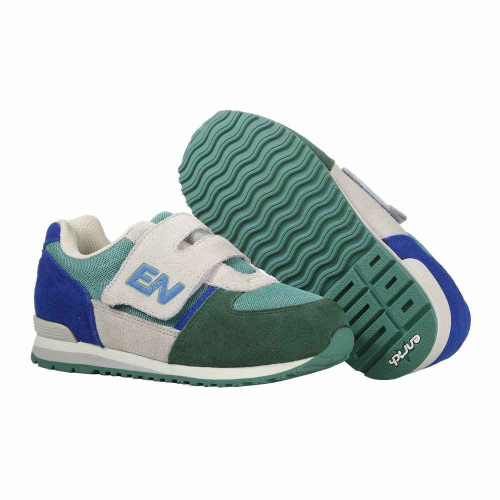 【ENRICH多功能足適鞋】兒童慢跑鞋 綠/寶藍 RG05V06