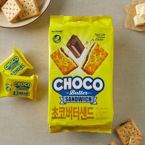 [自有品牌] 巧克力黃油夾心饼干190g [韓國直送]