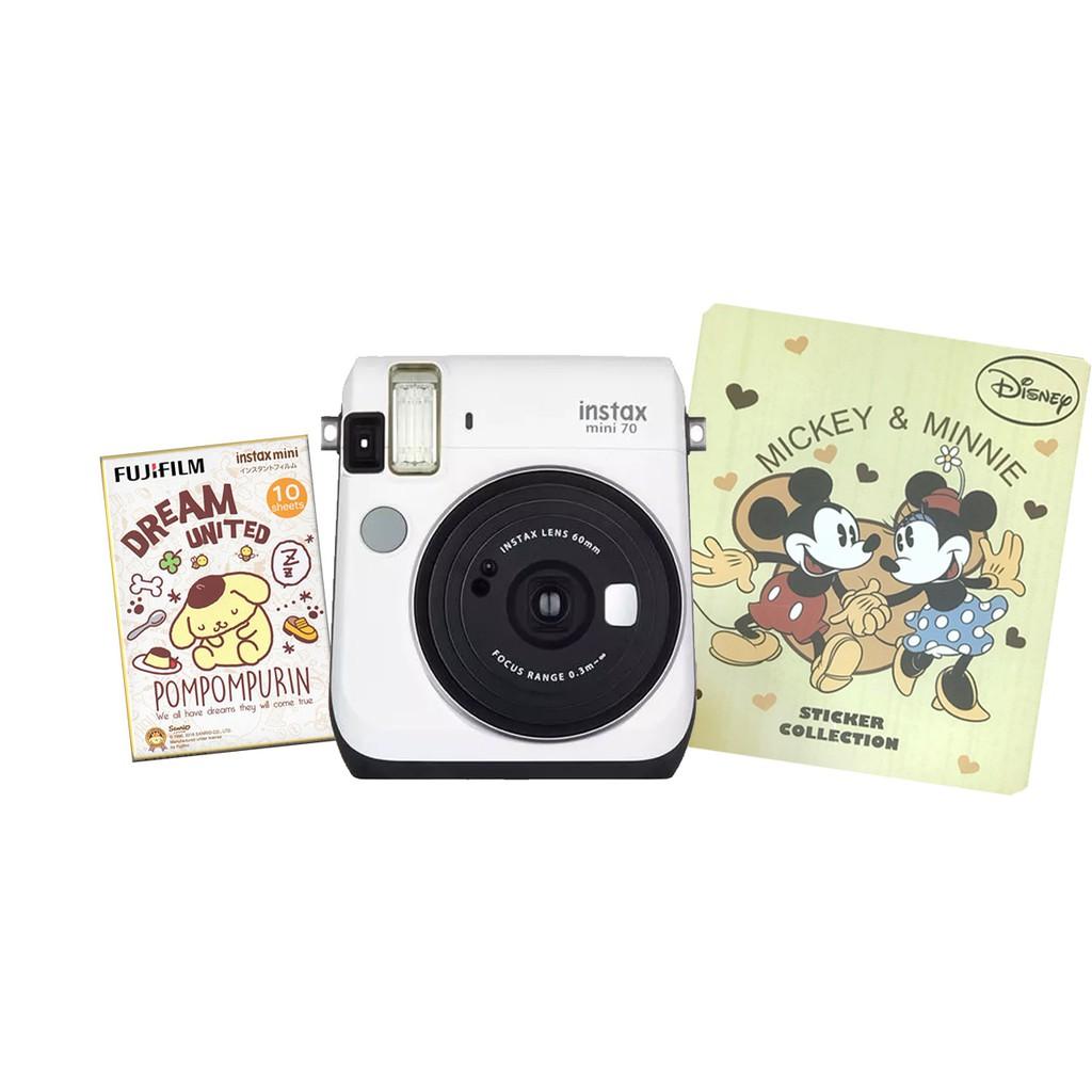 獨家優惠組 MINI70 拍立得 相機 + 迪士尼相簿 + 卡通底片