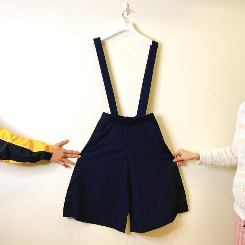 全新 Adidas originals 深藍色吊帶褲 休閒吊帶褲 運動吊帶褲 連身褲