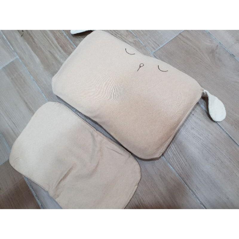 cani生活有機棉✦雙枕套組airwave護頭枕(小狗款)
