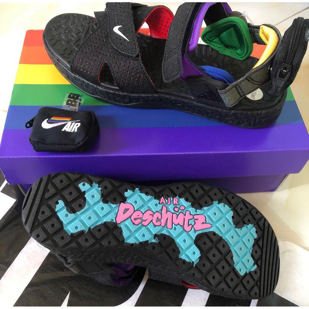 全新正品 Nike ACG Air Deschutz BETRUE 黑 彩虹 涼鞋 男女