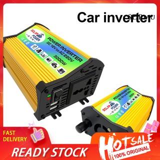 Qcdz _ 3000w Dc 12v 至 Ac 220v /  110v 黃色外殼電器電源逆變器