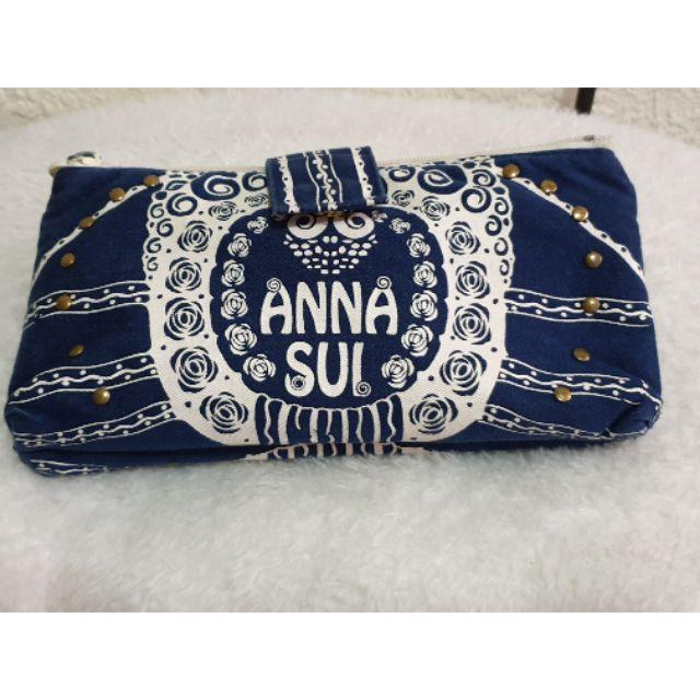 ANNA SUI 化妝包(二手)(👉瑕疵👈)/手拿包/鉛筆袋/錢包/安娜蘇化妝包/小包/手拿包/安娜蘇化妝袋/化妝袋
