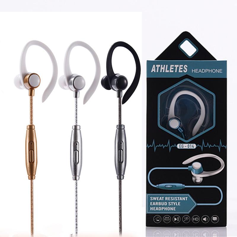 線控耳掛式有線運動耳機, 通用有線耳機, 帶麥克風, 用於手機