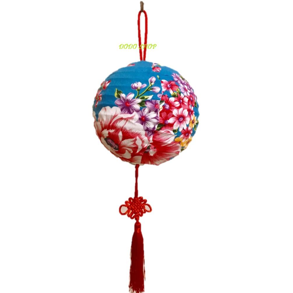手工花布燈籠15cm/年節燈籠/客家燈籠/客製化燈籠/燈籠