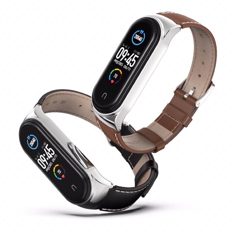 米布斯 小米手環6 小米手環5 小米手環4 真皮 錶帶 頭層 牛皮 小米3  替換 取代原廠矽膠 錶帶