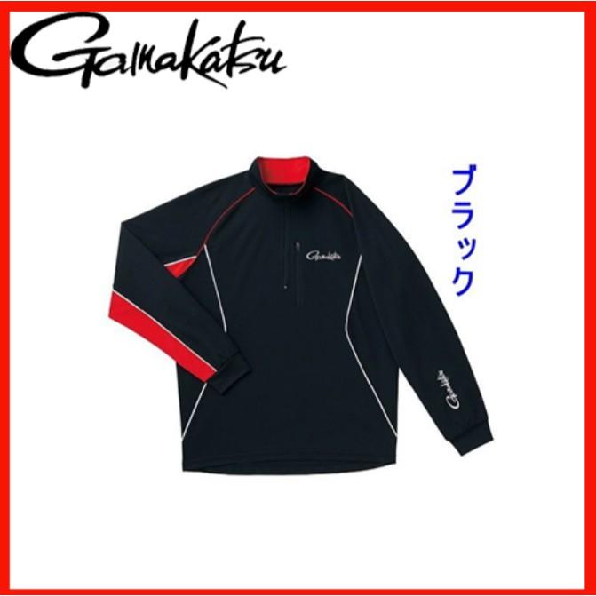 【獵漁人】GAMAKATSU COOL MAX SHIRT 長袖排汗衫 黑/白 吸汗 速乾 GM-3472