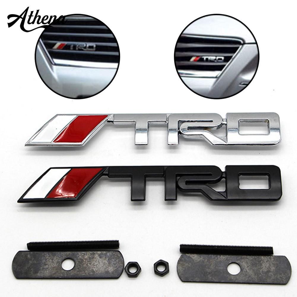 標誌徽章3D汽車造型TRD前格柵標誌貼紙Toyota Auto Decal
