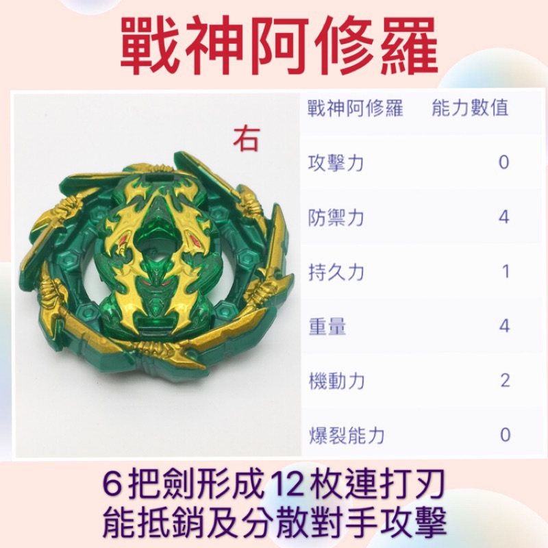 ✨戰神阿修羅 上晶盤+下晶盤 b 135 戰鬥陀螺 b153 susu