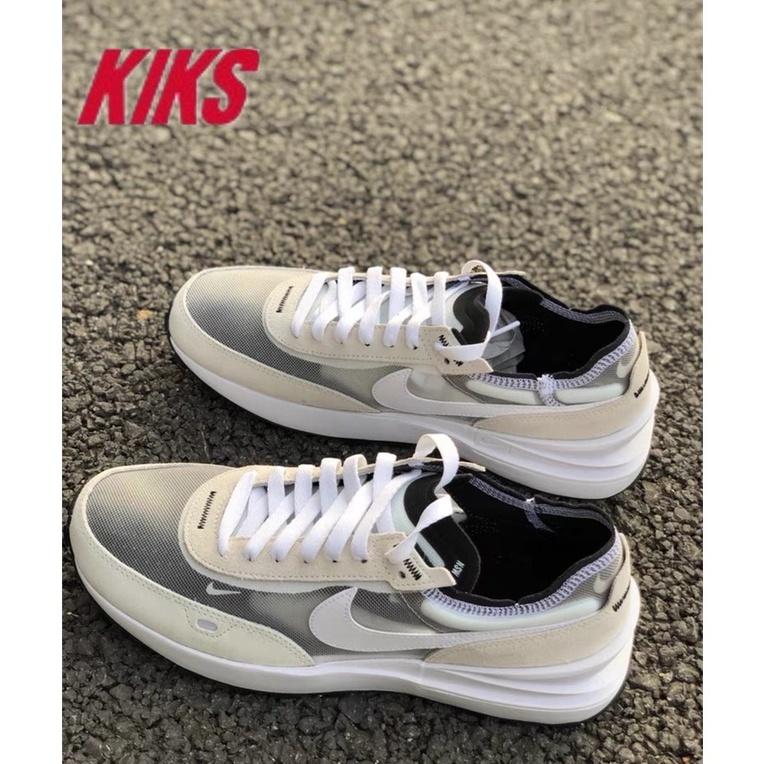 KIKS附發票 NIKE WAFFLE ONE SACAI 奶油白灰黑桃紅 小迪奧 解構 慢跑鞋 DA7995-100